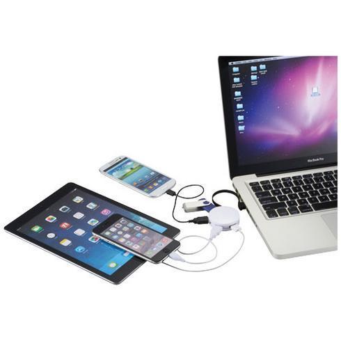 Round USB-Hub mit 4 Anschlüssen