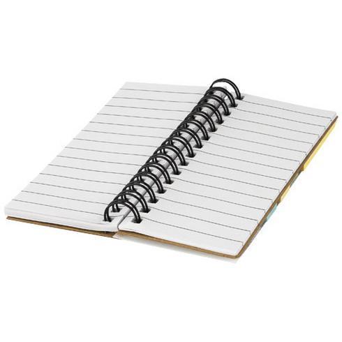Spinner Spiralnotizbuch mit bunten Haftnotizen