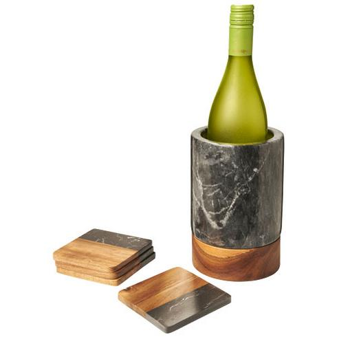 Harlow Weinkühler aus Marmor und Holz