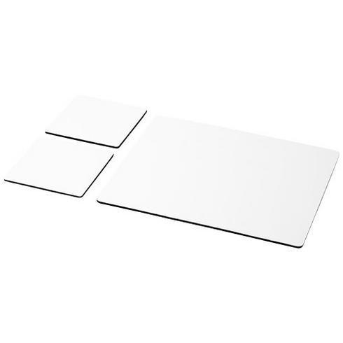 Q-Mat® Mousepad- und Untersetzer-Set 3