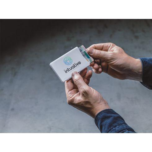 Kreditkartenhalter Visita mit Slider-System und Ihrem Logo