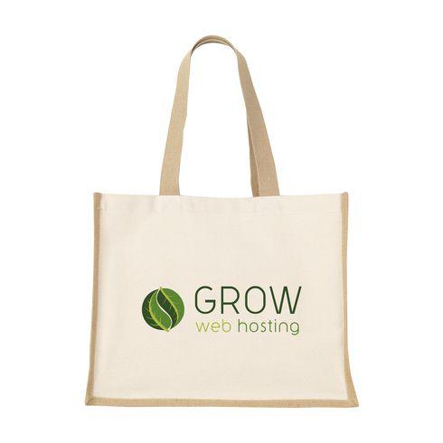 Jute Canvas Shopper Tasche