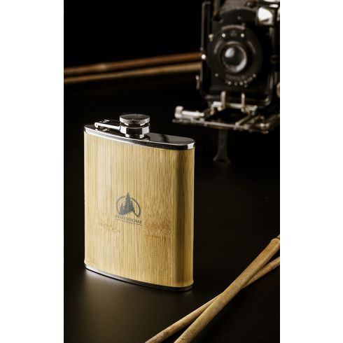 Hipflask Bamboo 200 ml Flachmann