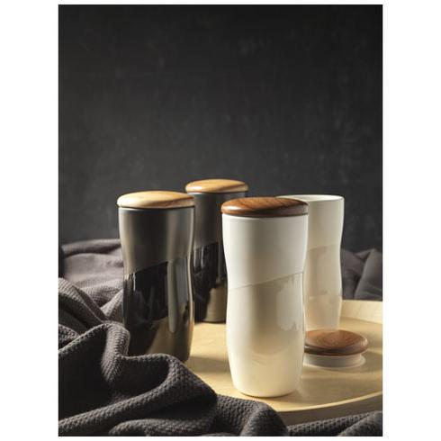 Reno 370 ml doppelwandiger Keramikbecher