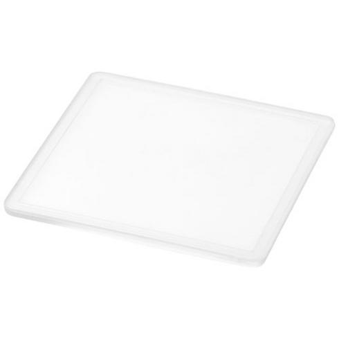 Ellison quadratischer Kunststoffuntersetzer mit Papiereinleger