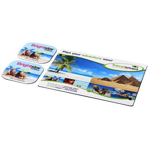 Brite-Mat® Mousepad- und Untersetzer-Set 3