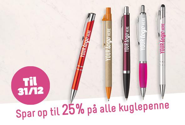 Spar op til 25% på alle kuglepenne