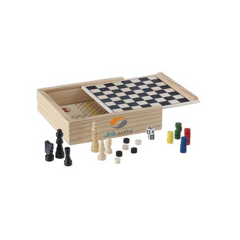WoodGame 5-i-1 spil