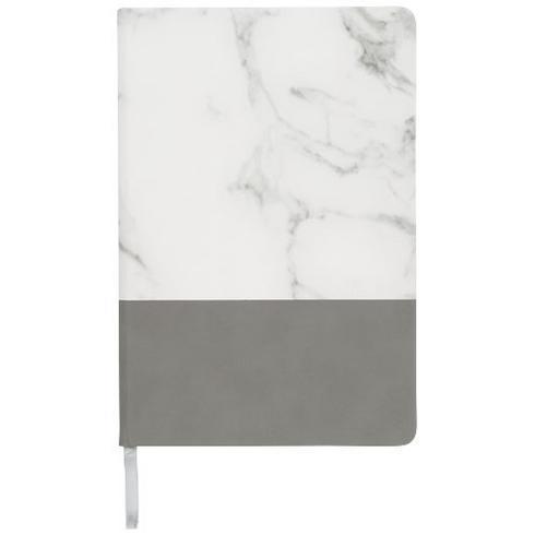 Two-tone A5 notesbog i marmor-look
