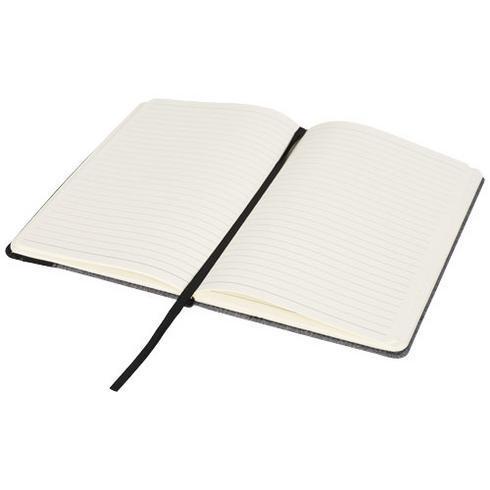 Heathered A5 notesbog med læderlookside