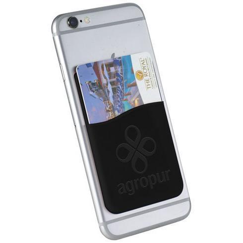 Slim kortholder i silikone til mobiler