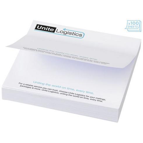 Sticky-Mate® Large firkantet memoblok 100x100mm