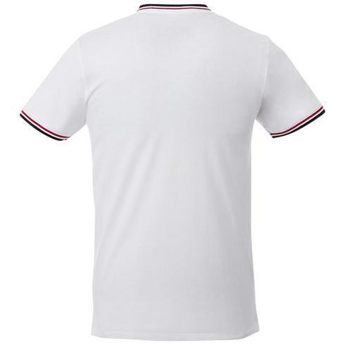 Elbert kortærmet T-shirt af piquéstrik, herre
