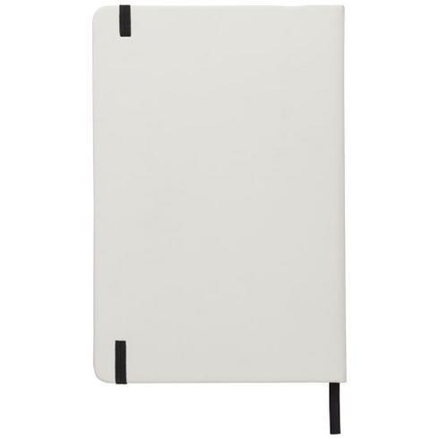Spectrum-muistivihko, koko A5, valkoinen, värillinen nauha