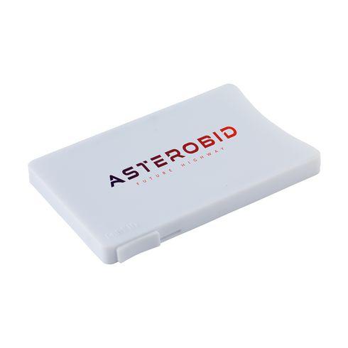 Porte-cartes avec système coulissant Visita avec marquage