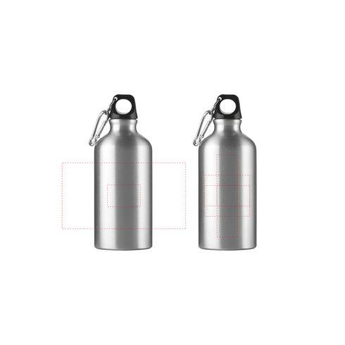 Bouteille d'eau en aluminium AluMini avec marquage · 500 ml