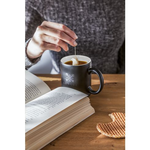 Mug publicitaire Longa · Noir mat · 350 ml