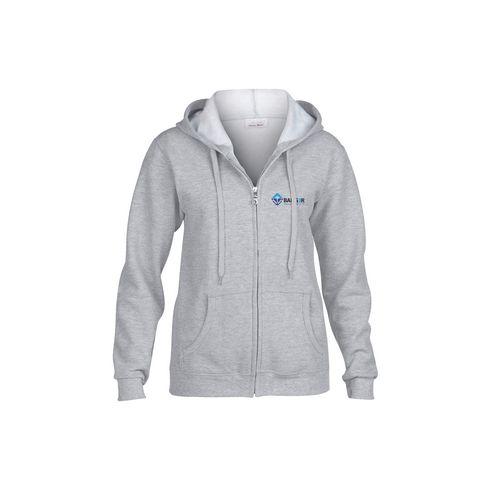 Gildan HoodedZipSweater femmes