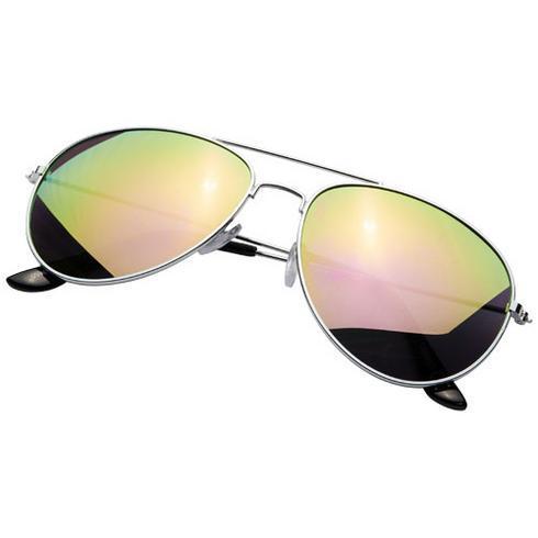 Lunettes de soleil Aviator avec verres réfléchissants colorés