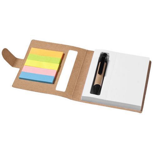 Bloc-notes avec mémos autocollants colorés et stylo Reveal