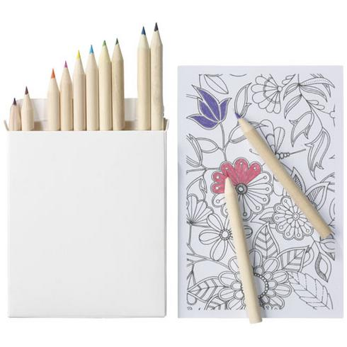 Set coloriage 22 pièces avec papier à griffonnage Doris