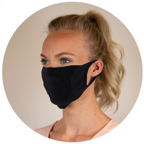Reusable mask with filter pocket