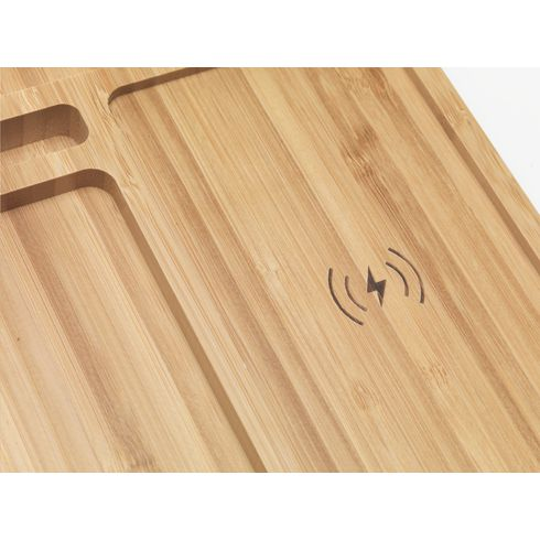 Bamboo Docking Station organizer and charger
