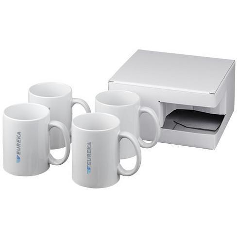 Ceramic mug 4-pieces gift set