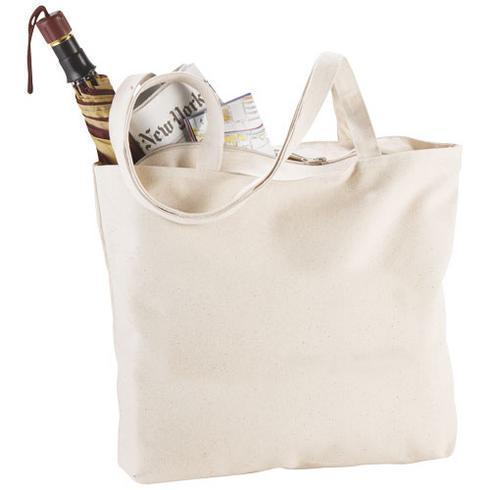 Ningbo 320 g/m² zippered cotton tote bag