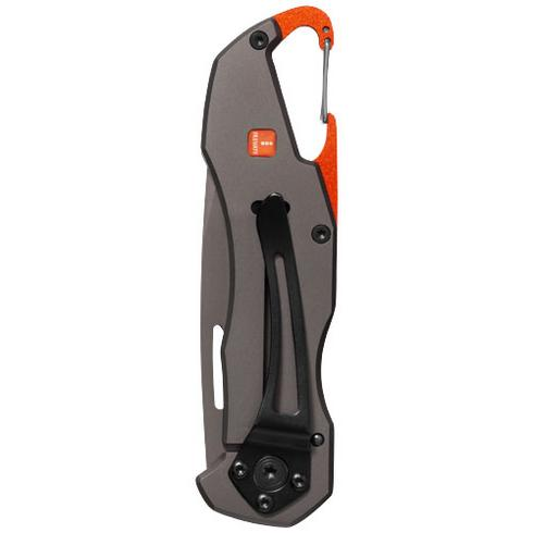 Deltaform knife with carabiner