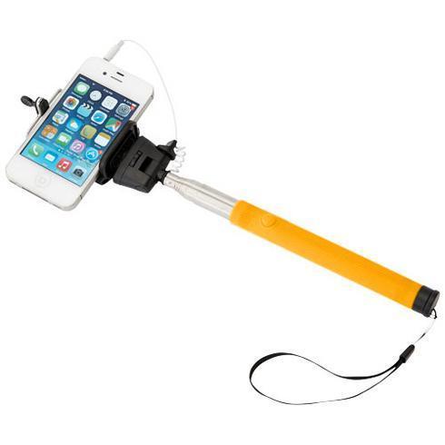 Wire extendable selfie stick