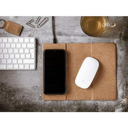 Cork Wireless Charging Mousepad