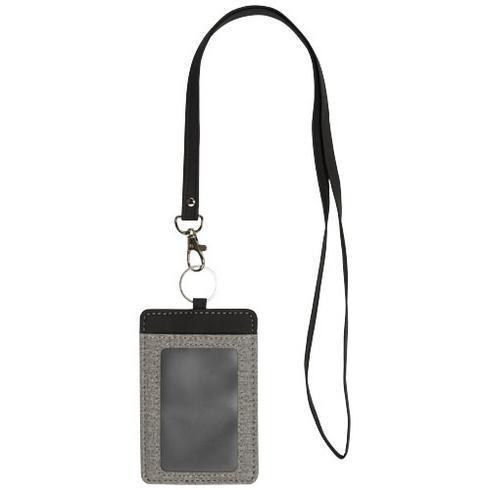 Eye-d heathered badge holder with lanyard