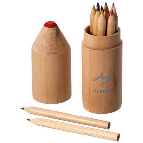 Bossy 12-piece coloured pencil set