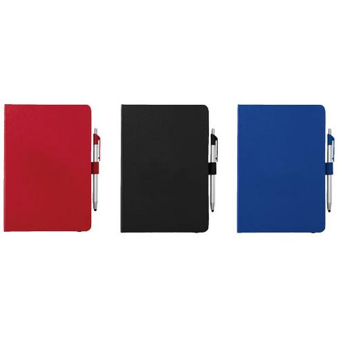 Crown A5 notebook with stylus ballpoint pen