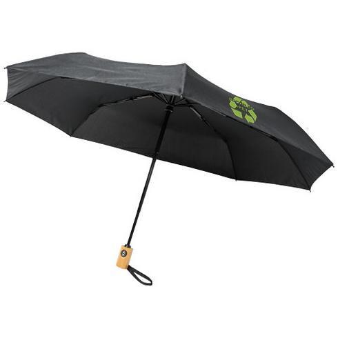 "Bo 21"" fold. auto open/close recycled PET umbrella"