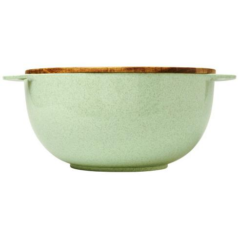 Lucha wheat straw salad bowl with servers