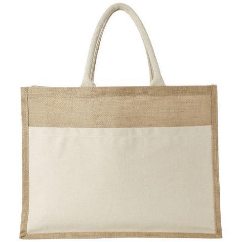 Mumbay cotton pocket jute tote bag