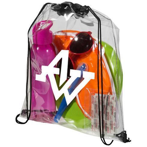 Lancaster transparent drawstring backpack