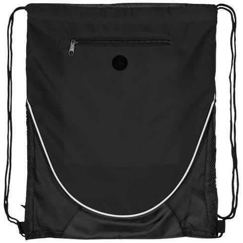 Peek zippered pocket drawstring backpack