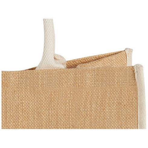 Harry coloured edge jute tote bag