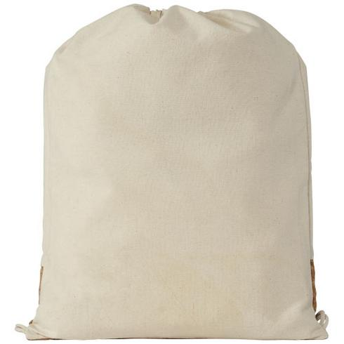 Woods 150 g/m² cotton and cork drawstring backpack
