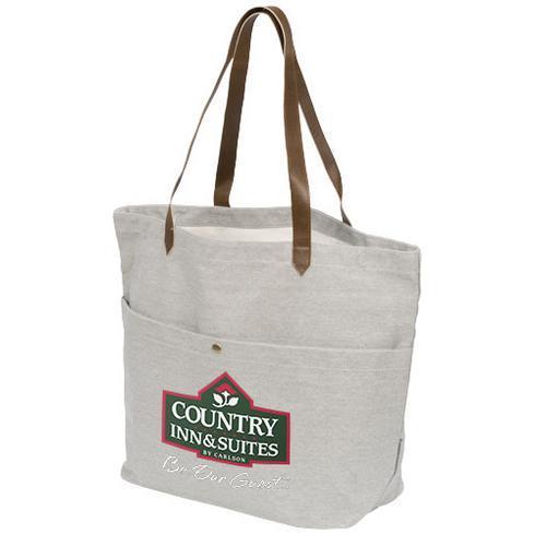 Harper cotton canvas book tote bag