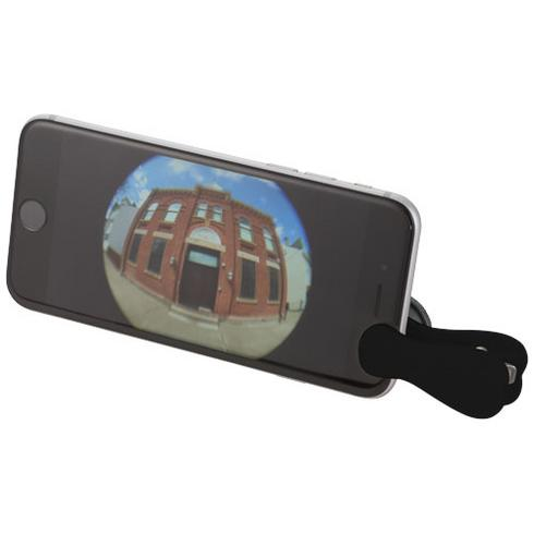 Fish-eye smartphone camera lens with clip