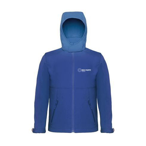 B&C Hooded Softshell kids jack