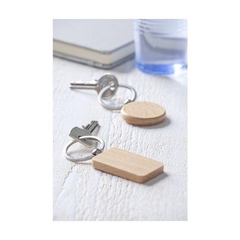 Woodkey Rectangle nøkkelring