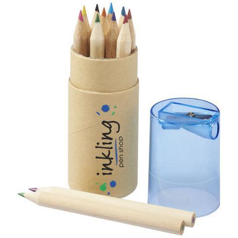 Hef fargeblyantsett i 12 deler med blyantspisser