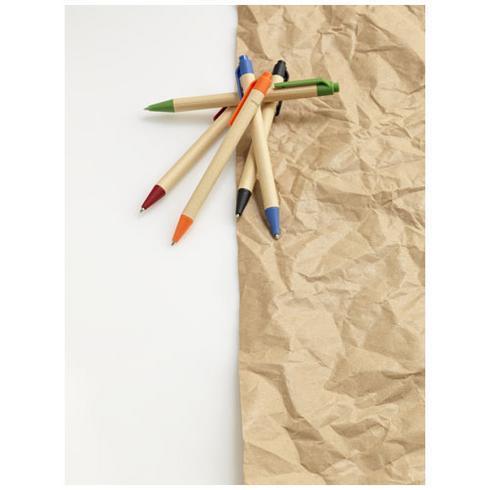 Berk kulepenn i resirkulert papp og maisplast