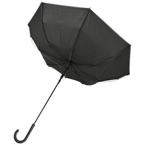 "Felice 23"" vindtett reflekterende paraply med auto-åpning"