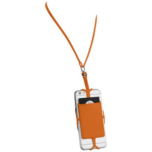 RFID kortholder i silikon med nøkkelbånd